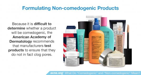 Formulating Non-comedogenic Products