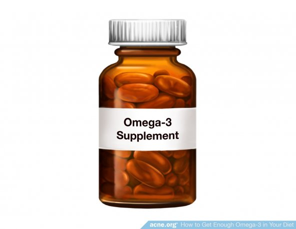 Omega-3 Supplement Bottle