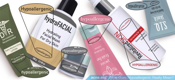 Skin Care Products Labeled Hypoallergenic