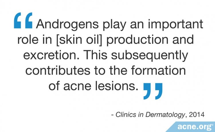 Androgens play an important role in skin oil production