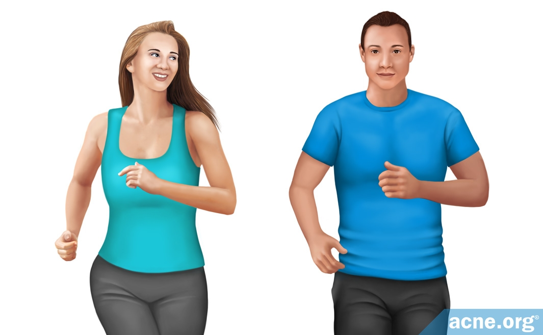 Male and Female Runners