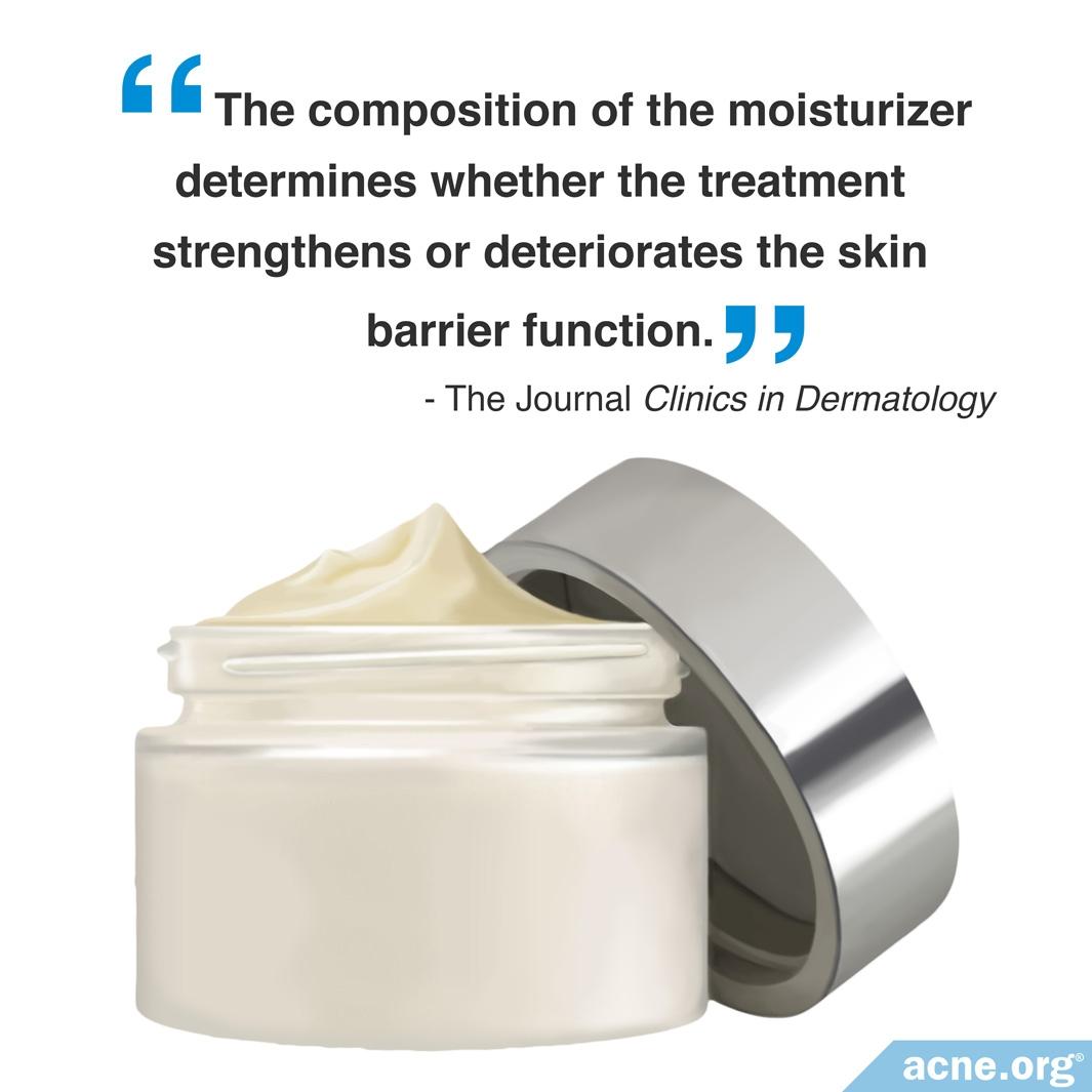 Moisturizer and Skin Barrier Function