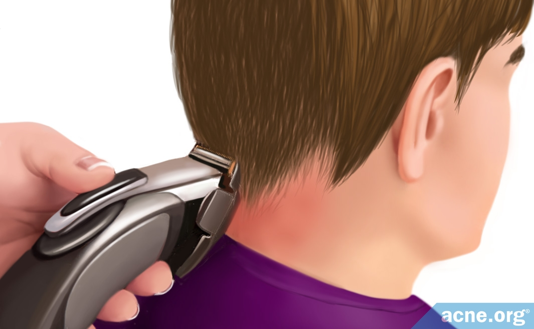 Shaving Back of Neck