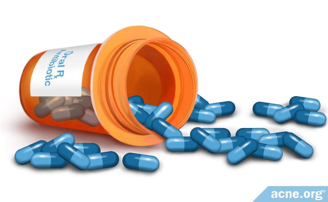 Prescription Antibiotic Pill Bottle
