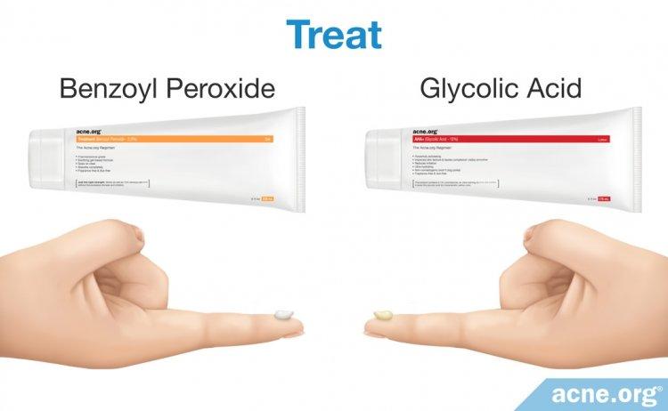 Treat: Benzoyl Peroxide and Glycolic Acid