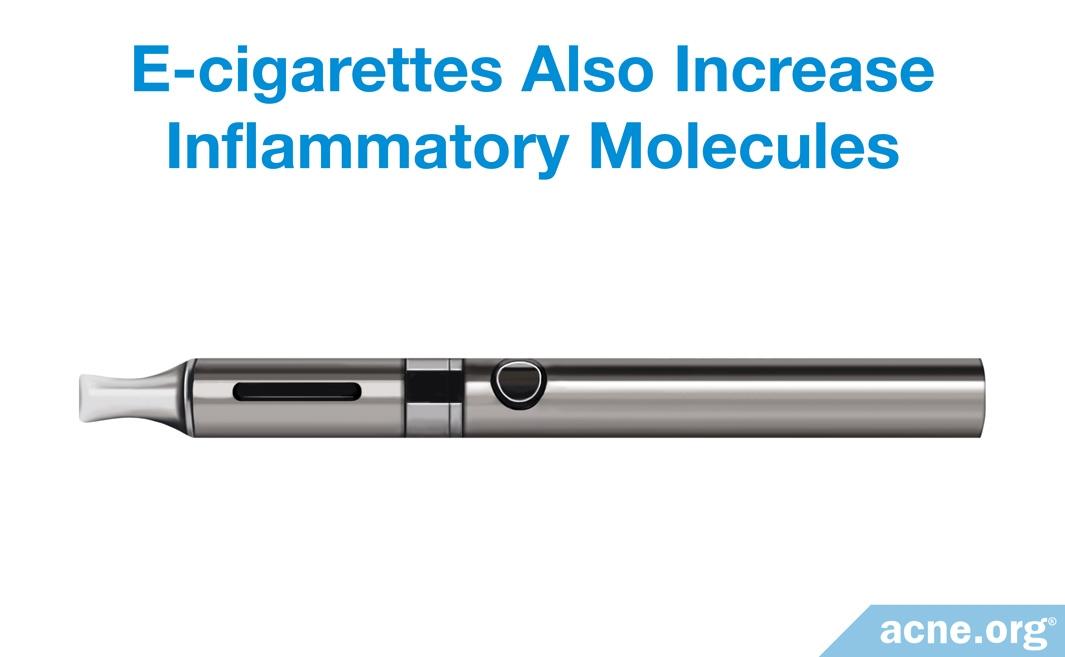 E-Cigarettes Also Increase Inflammatory Molecules