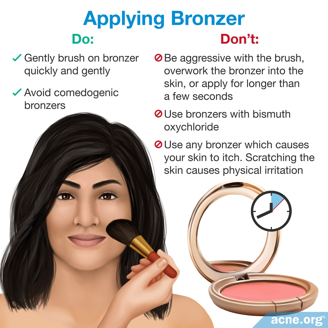 Applying Bronzer to Acne-prone Skin