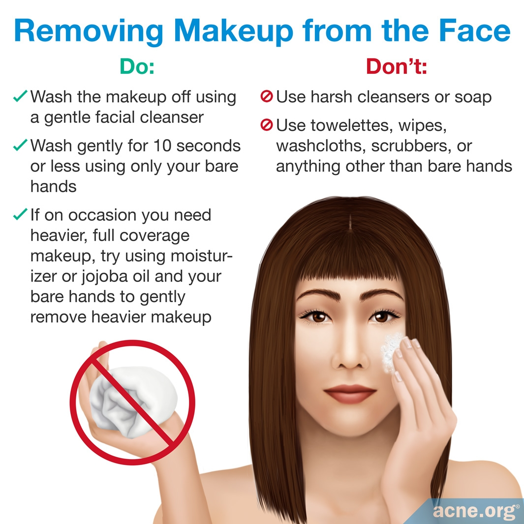 Removing Makeup from the Face