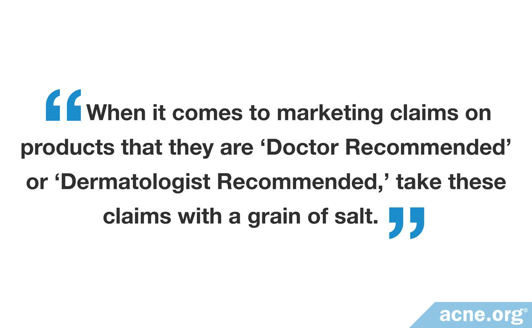 doctor recommended dermatologist recommended claims