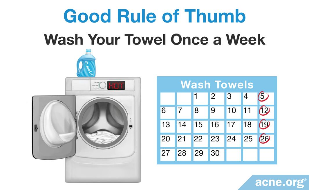 Good Rule of Thumb Is To Wash Your Towel Once a Week
