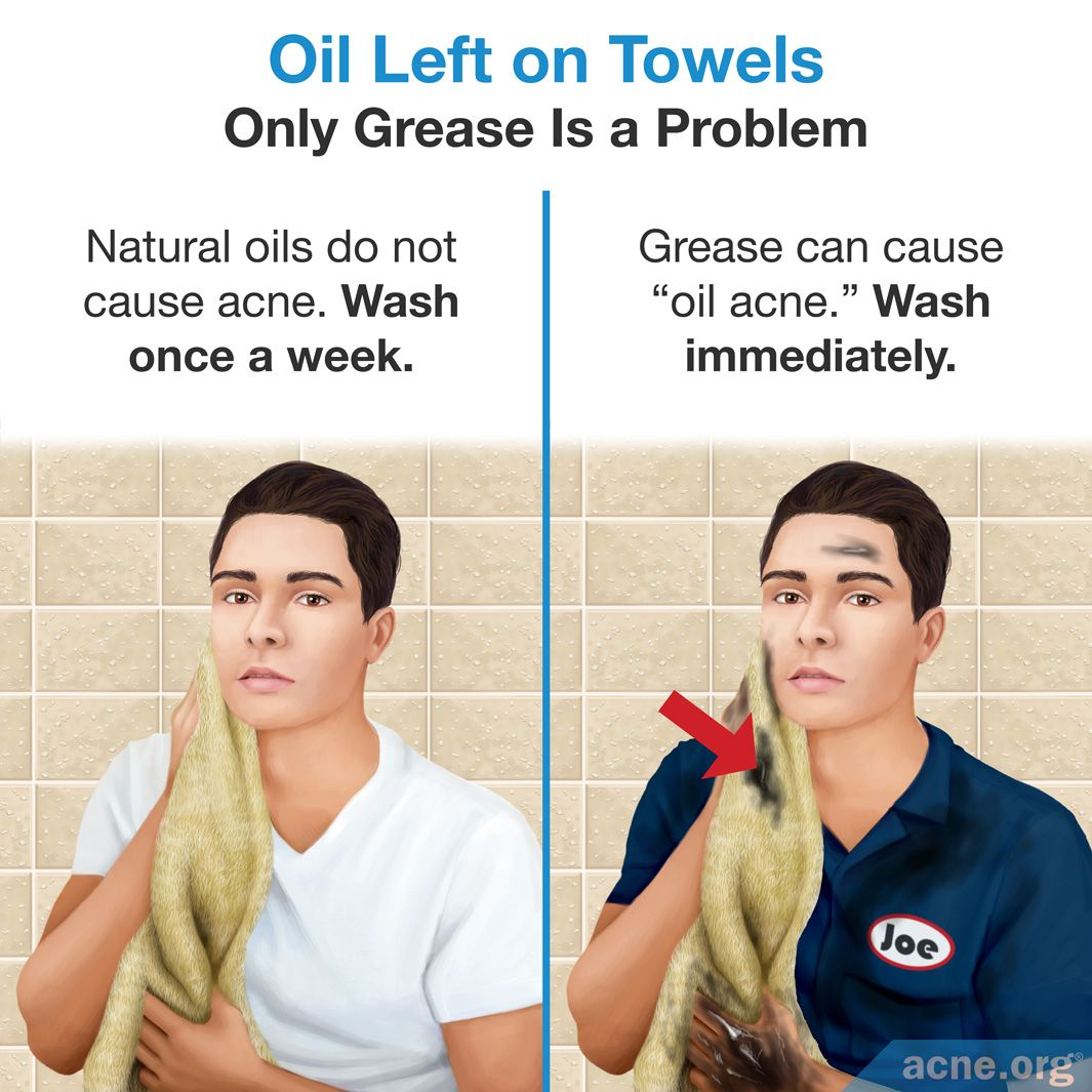 Oil Left on Towels Only Grease Is a Problem