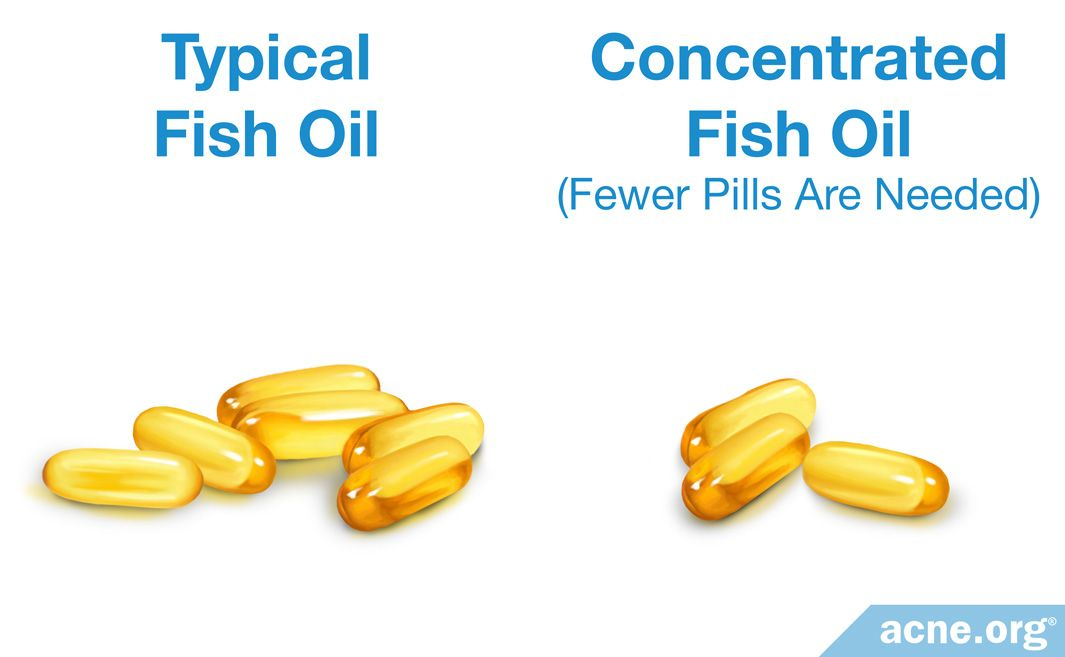 Typical Fish Oil and Concentrated Fish Oil