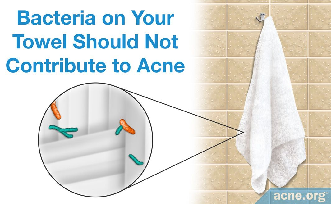 Bacteria on Your Towel Should Not Contribute to Acne