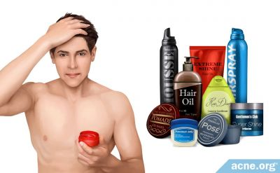 Some Leave-in Hair Products May Cause Acne